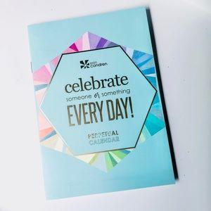 ERIN CONDREN • Blue + Rainbow Perpetual Calendar